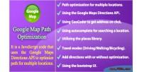 Map google path optimization