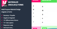 Material materialize forms js angular