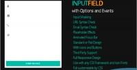 Modern inputfield field input responsive