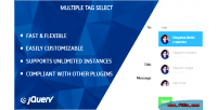 Multiple jquery tag select