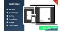 Munda forms clean modern forms web responsive
