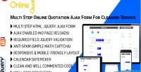 Quote online multi step online ajax quotation form service cleaning for
