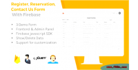 Reservation register contact firebase us with form