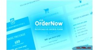 Responsive ordernow order form