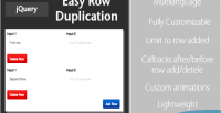 Row easy plugin jquery duplication
