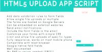 Upload html5 form sheet app google script