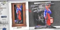 Freshd 3d parallax jquery editor with plugin