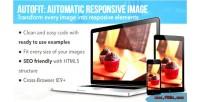 Automatic autofit responsive image