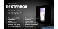 Beautiful dexterbox responsive lightbox