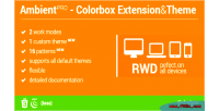 Blur ambient background theme colorbox for