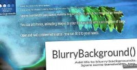 Moving blurry background for jquery & javascript