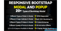 Bootstrap responsive popup & modal