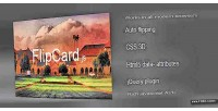 Flipping card 3d with css3 javascript jquery