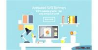 Design flat desk svg animated banners