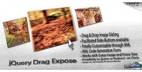 Drag jquery expose gallery image draggable
