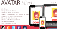 Effects avatar responsive picker image html5