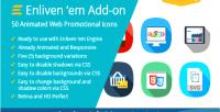 Em premium add on icons promotional web em