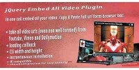 Embed jquery plugin video all