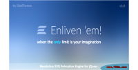 Enliven em animation engine graphic vector for