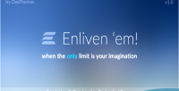 Enliven em animation engine graphic vector for