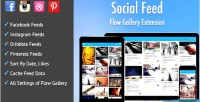 Feed social exension gallery flow