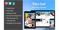 Feed video exension gallery flow