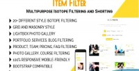 Filter item multipurpose shorting isotope & filtering