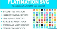Flatimation svg an animated set icon svg
