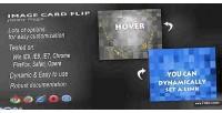 Flip card js plugin