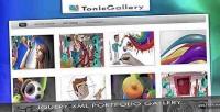 Gallery tonic jquery gallery portfolio xml