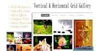 Grid responsive gallery vertical & horizontal