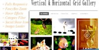 Grid responsive gallery vertical & horizontal