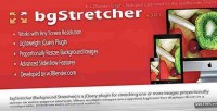 Jquery bgstretcher slideshow resizer background