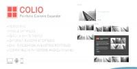 Jquery colio portfolio plugin expander content