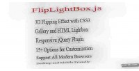Flipping lightbox 3d with css3 & jquery