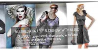 Multimedia jquery gallery music with slideshow