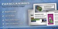 Responsive parallaximus widget parallax 3d