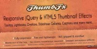 Responsive thumbfx effects thumbnail jquery