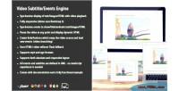 Subtitle video events engine