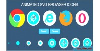 Svg animated browser icons