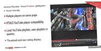 Video youtube playlist with player