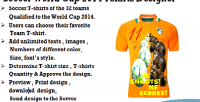 Worldcup football designer tshirt 2014