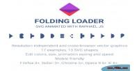 Loader folding animated svg