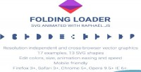 Loader folding animated svg
