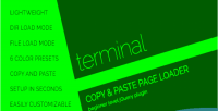 Console terminal style preloader loader page