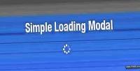 Loading simple modal