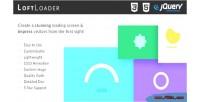 Loftloader jquery create a screen loading stunning