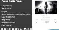 Audio focus playlist with player