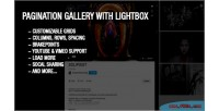 Gallery pagination with lightbox