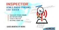 Html5 inspector radio tester list streams